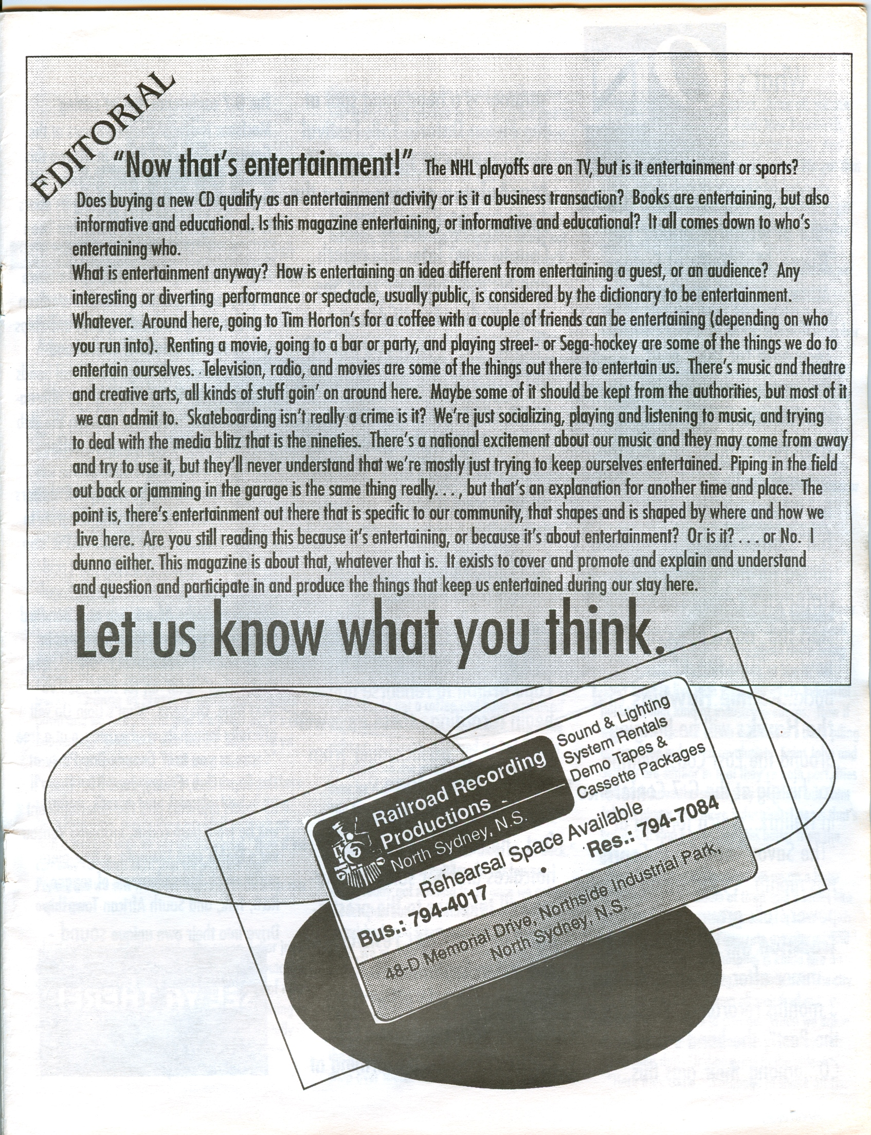 """EDITORIAL – June 1995 (""""Now that's entertainment!"""")"""