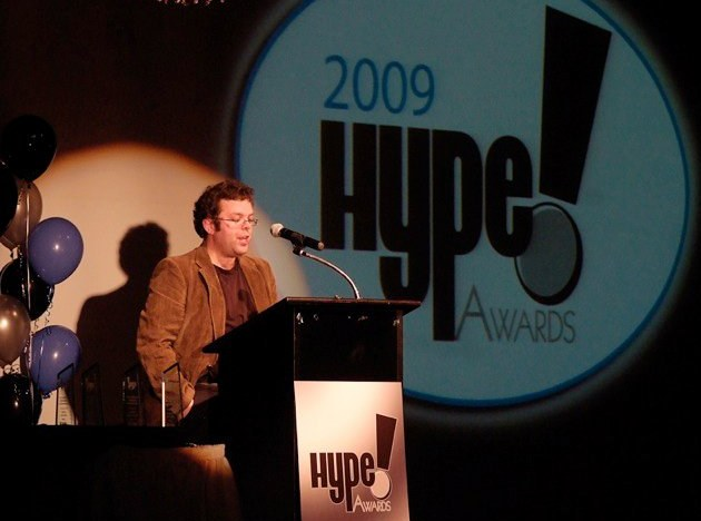 Emcee Aaron Corbett at the 2009 HYPE awards