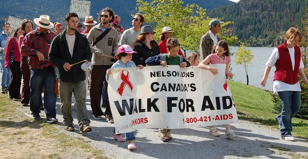 Aids Walk for Life 2009 in Nelson, British Columbia
