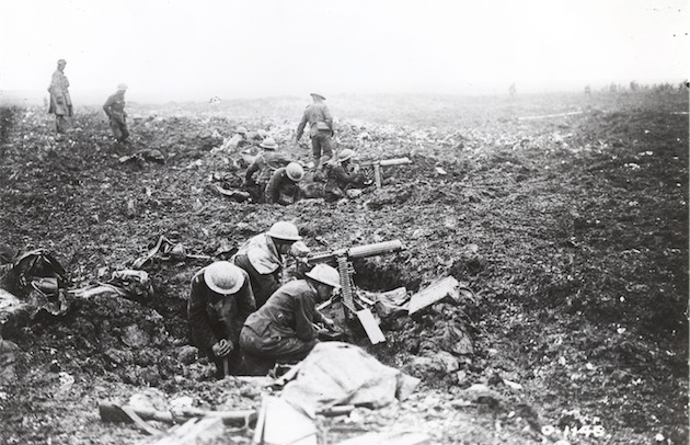 Canadian machine gun crews on Vimy Ridge