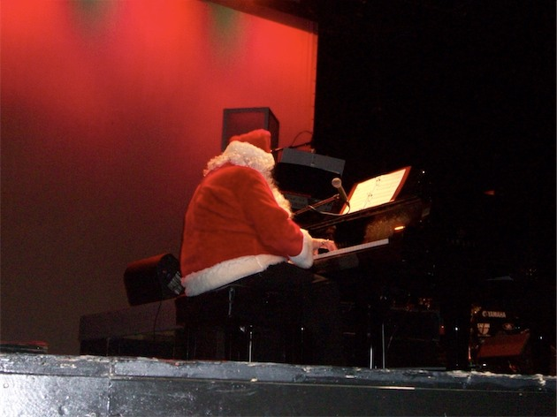 John Aucoin as part of The Three Pianos at the Savoy Theatre December 2010