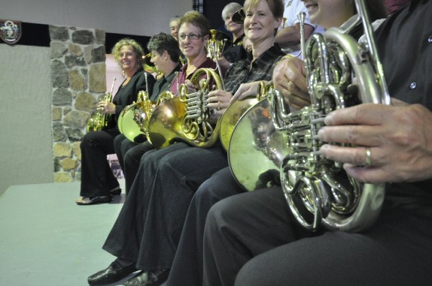 Second Wind Community Band's French Horn Choir