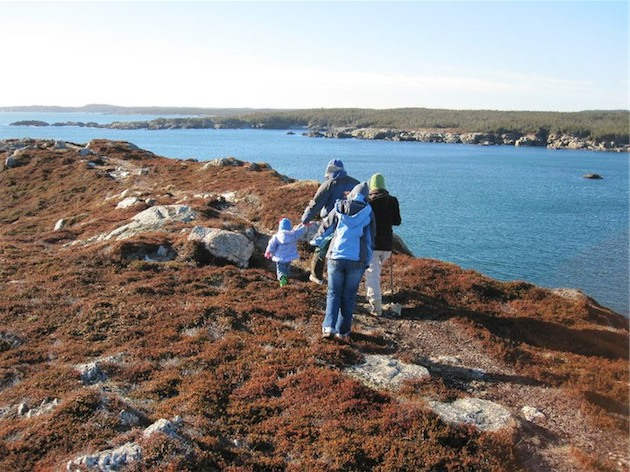 Walking on the Cliffs at Gooseberry Cove