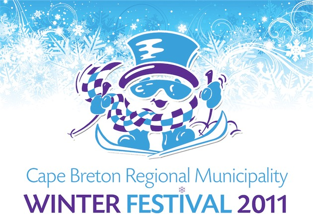 Winterfest CBRM Logo with Snowflakes