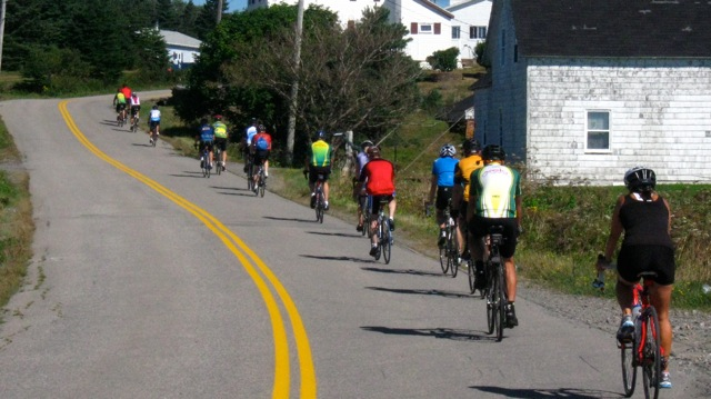 (On the road in Isle Madame - photo: Velo Cape Breton)
