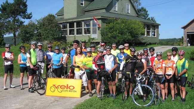 Participants in Velo Cape Breton's Tour du Lac Bras d'Or, held in August. Velo Cape Breton hosts the Nova Scotia Cycling Summit this weekend in Sydney.