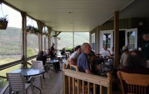 (Enjoying some music on the Chanterelle Country Inn veranda.)
