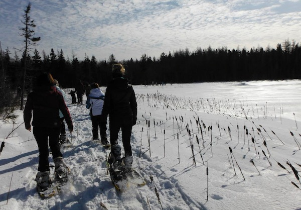 (Showshoeing around Waterford Lake - photo ACAP Cape Breton)