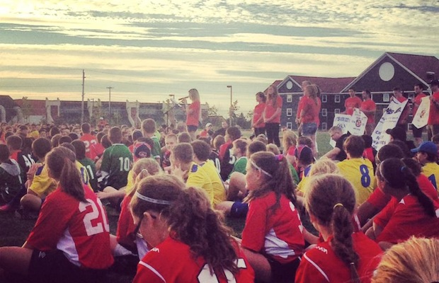 Last year's Connor Timmons Soccer Tournament opening ceremonies - photo: Kayla Walsh