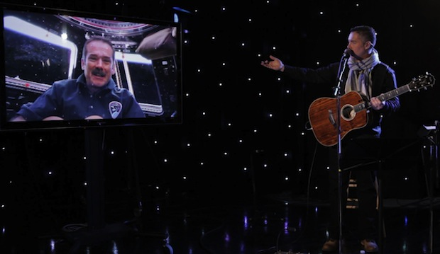 Chris Hadfield and Ed Robertson - photo: music.cbc.ca