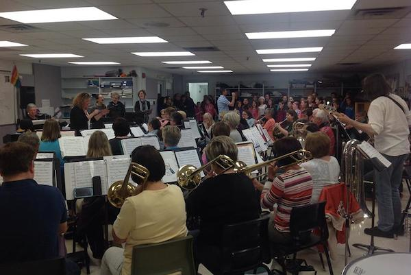 Second Wind Community Band preparing for their 20th anniversary concert this past June