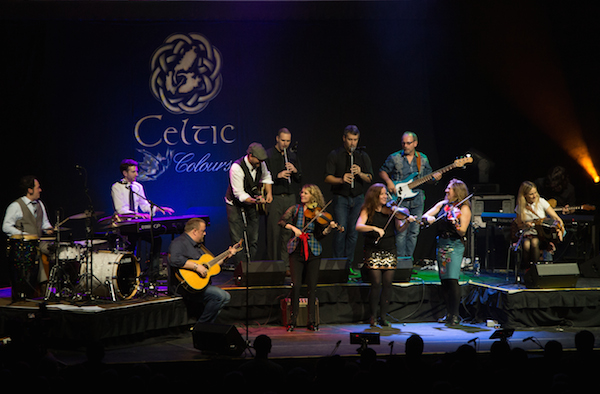 J.P. Cormier, Sharon Shannon, Alan Connor, Beòlach and Natalie MacMaster and her band onstage at Centre 200 in Sydney for the finale of Celtic Colours 2014 - photo: Corey Katz
