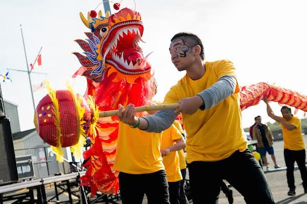 Chinese students from CBU and ICEAP perform traditional Chinese dragon dance during CBU's Multiversity Festival held in September 2014 - photo: CBU