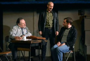 Gary Walsh as Topolsky, Todd Hiscock as Ariel, and Mike McPhee as Katurian