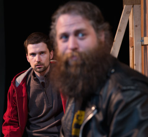 Ben (Rory Andrews) and his buddy in recovery, Bear (Clayton D'Orsay) - photo: Chris Walzak