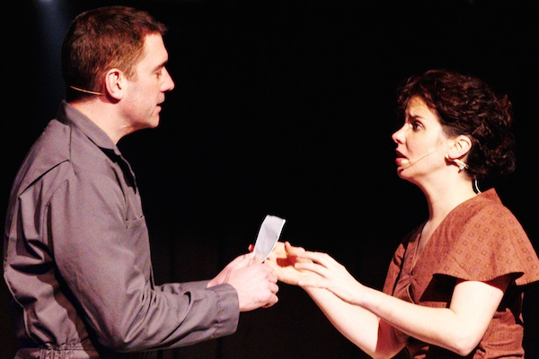 Jarrod MacLean and Laura Caswell as Joe and Mary Laben in Tompkinsville - photo: Michael Halbwachs