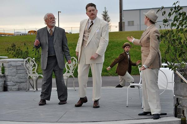 Bob Lewandowski, Mark Delaney, Ciaran MacGillivray, and Anna Spencer in The Bandshell Players Much Ado About Nothing - photo: Walter Carey