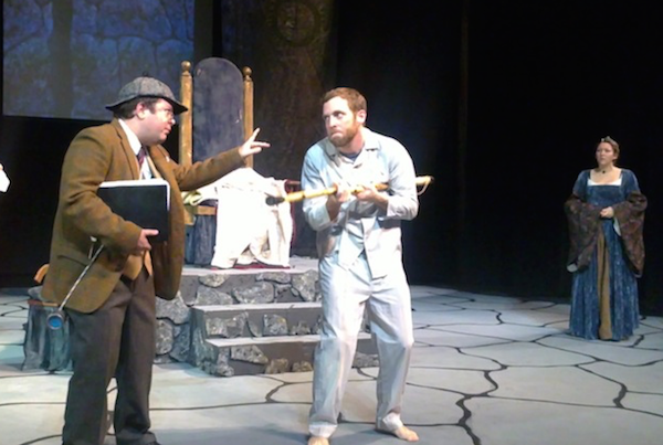 Aaron Corbett, Mike McPhee and Lindsay Thompson in a 2012 Season of Plays production of Exit the King. Corbett and Thompson are joined by Wayne McKay in this years Season opener, The Complete Works of William Shakespeare (abridged), directed by McPhee - photo: Ida Steeves