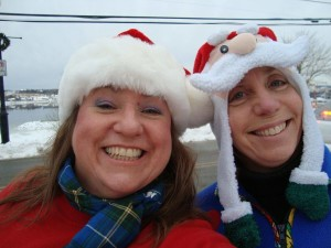 Ugly Sweater Run organizers Tera Camus and Wendy Martin