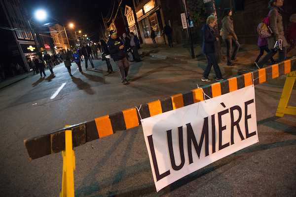 Lumière brought more than 8,000 people out into the streets of the Sydney Waterfront District in 2015.  The popular Cape Breton contemporary arts festival is now accepting submissions for 2016 - photo: Corey Katz