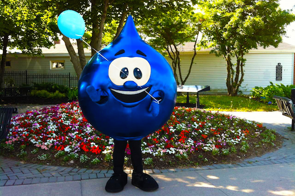 ACAP Cape Breton will be visiting local schools, community groups, and businesses across the CBRM with Tappy the Water Drop mascot for World Water Day, March 22 - photo: ACAP Cape Breton