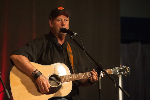 Cape Breton singer-songwriter Buddy MacDonald joins Laura Smith to kick  off Makin' Waves Music Festival this Thursday at the Bandshell in Wentworth Park - photo: Murd Smith