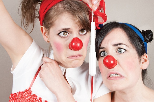 Morro (Heather Marie Annis) and Jasp (Amy Lee) take a hilarious look back at the best period of your life in Morro and Jasp do Puberty, running at the Highland Arts Theatre until January 13