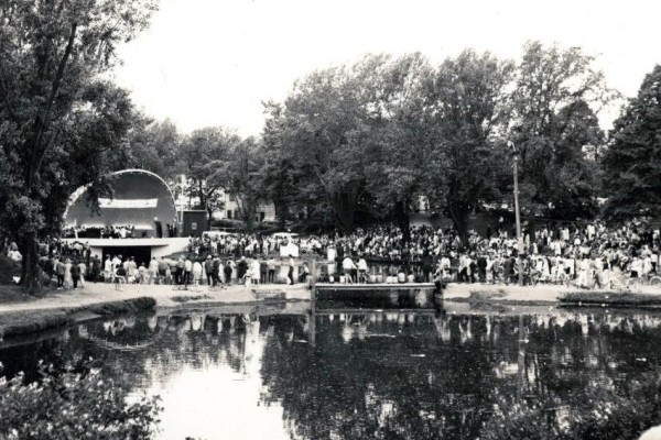 Crowds attending a band concert at Wentworth Park during the Centennial Celebrations, 1967 - photo: courtesy of Beaton Institute