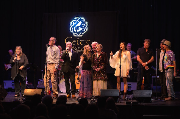 The Tribute to Leon Dubinsky finale featuring(front) Doris Mason, Max MacDonald, Maynard Morrison, Ella Dubinsky, Leon Dubinsky, Beth Dubinsky, Fiona MacGillivray, Ralph Dillon, Bruce Guthro, Ronnie MacEachern with Fred Lavery, Ron Parks, Brian Talbot and Allie Bennett in the back - photo: Corey Katz