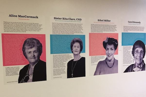 Cape Breton Women's Gallery, located at New Dawn Centre for Social Innovation, honours local women who have made significant contributions to their families, communities, and others who were fortunate enough to have been in their company - photo: Alison Keats
