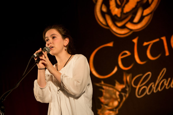 Sarah MacInnis, a talented young Gaelic singer and dancer from Mabou, is one of thirteen artists featured on the new live compilation from Celtic Colours - photo: Corey Katz