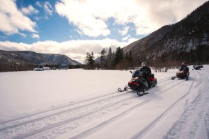 Cape Breton's highlands are a top destination for snowmobiling - photo: DCBA